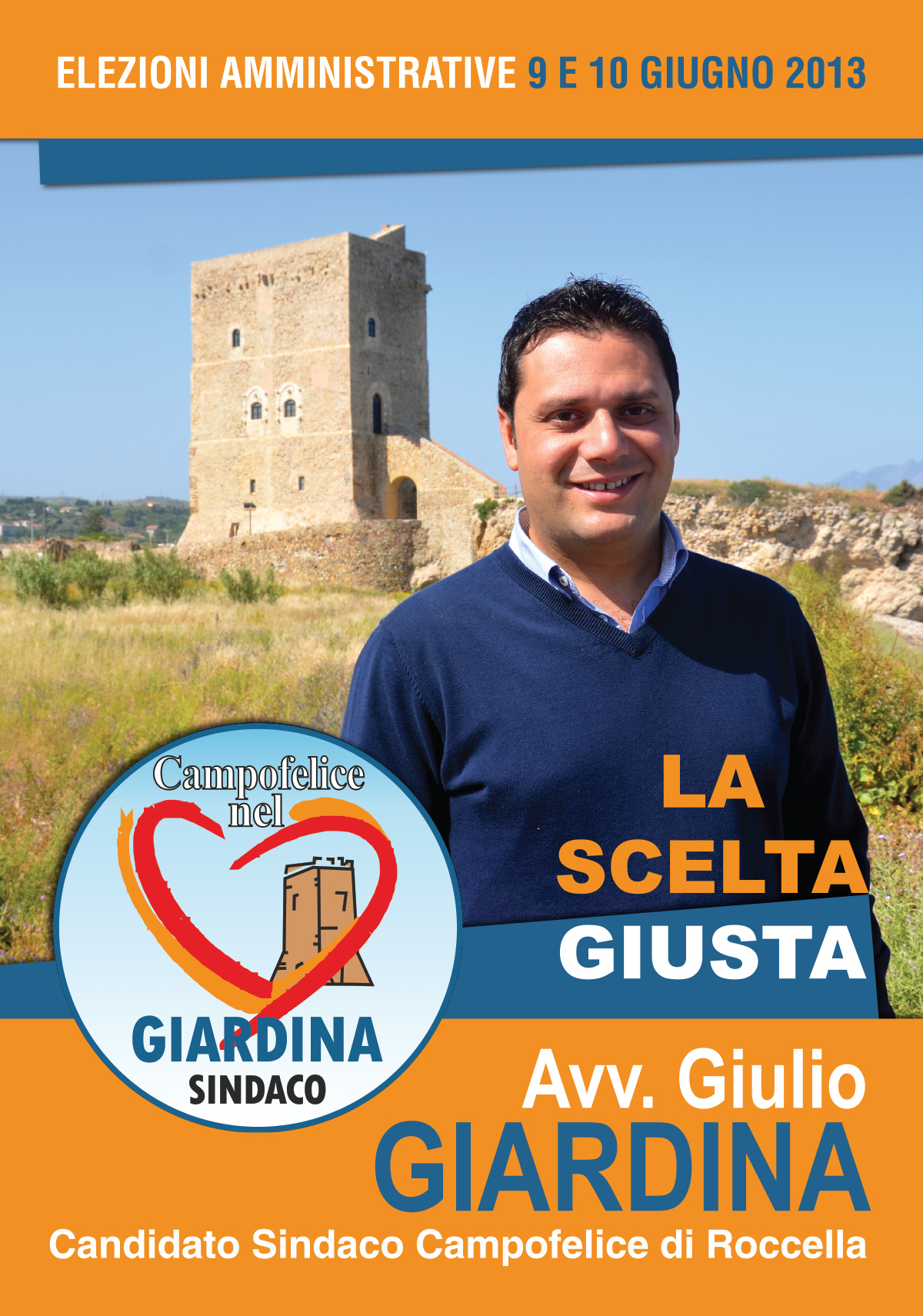 Materiale elettorale Candidato sindaco Giulio Giardina