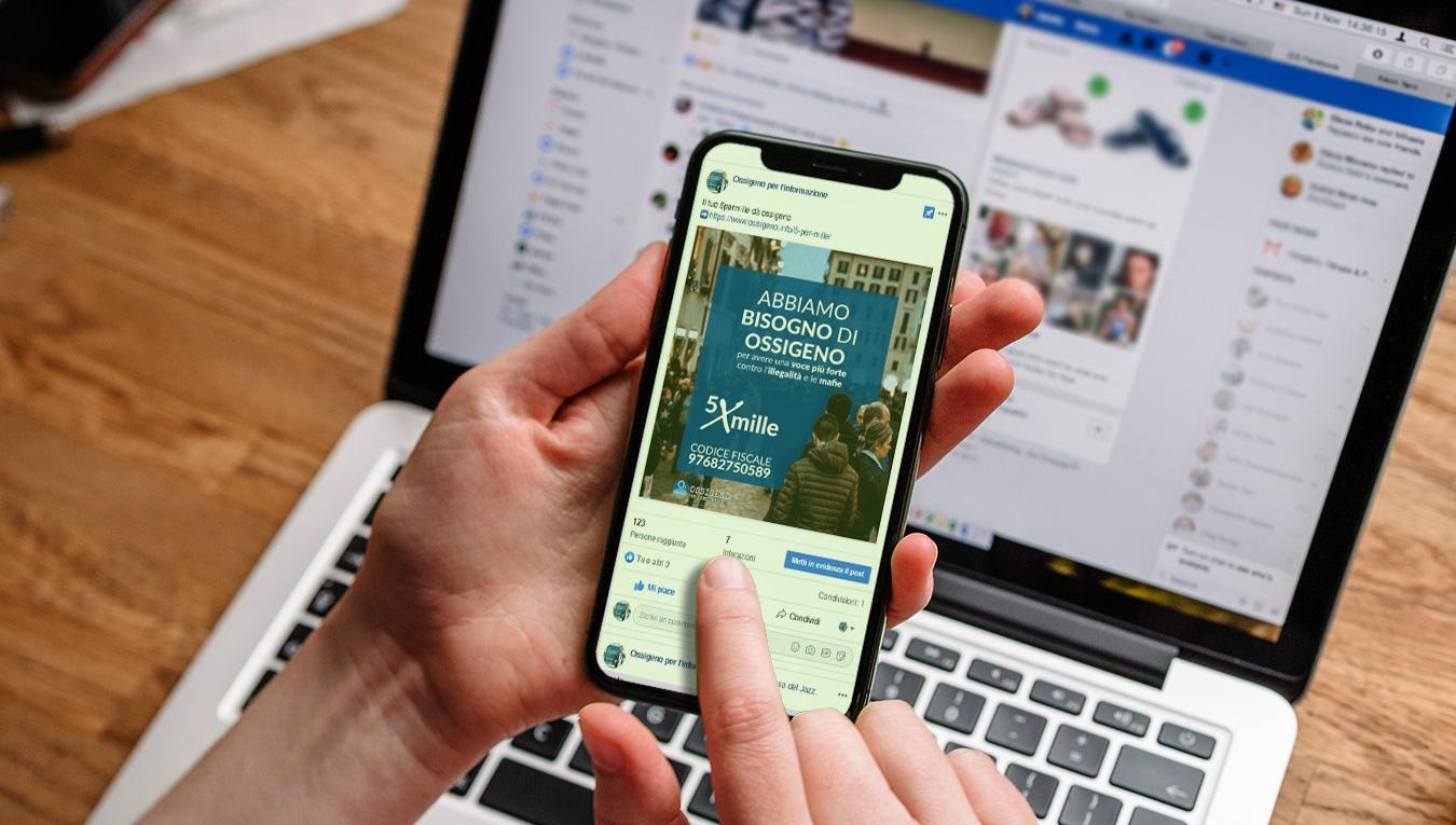 Nuova campagna social 5 per mille – Ossigeno per l'Informazione